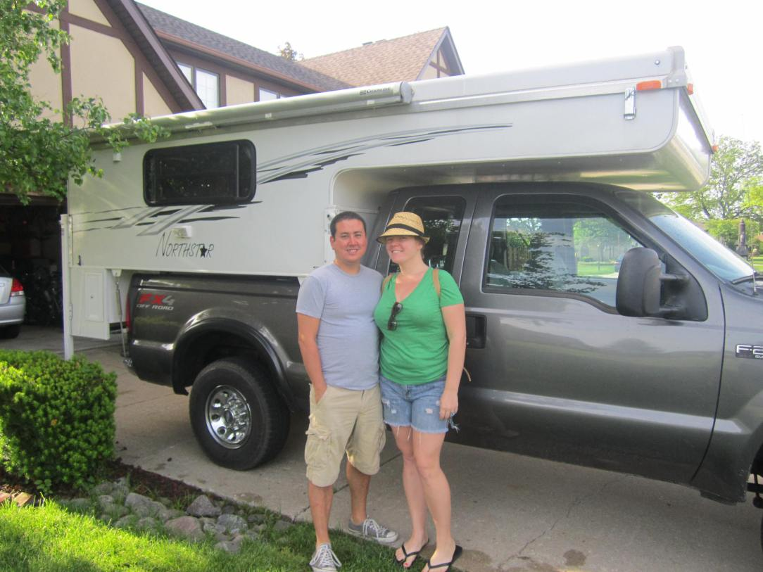 Jon and I getting ready to hit the road in our Northstar Camper