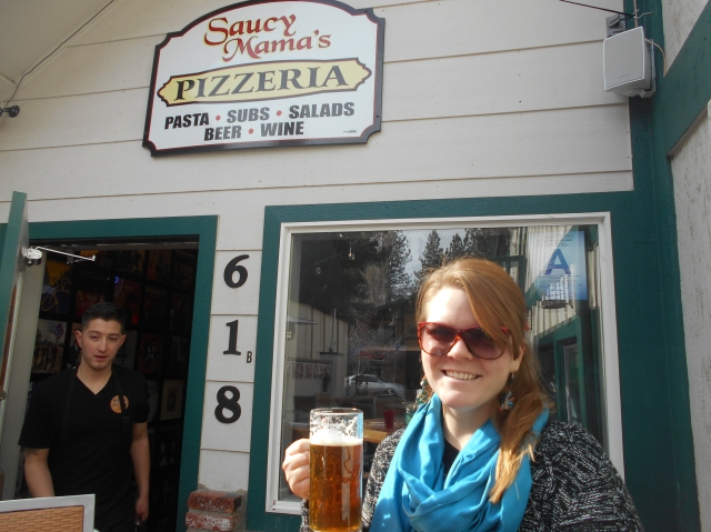 A saucy mama at saucy mama's ;)