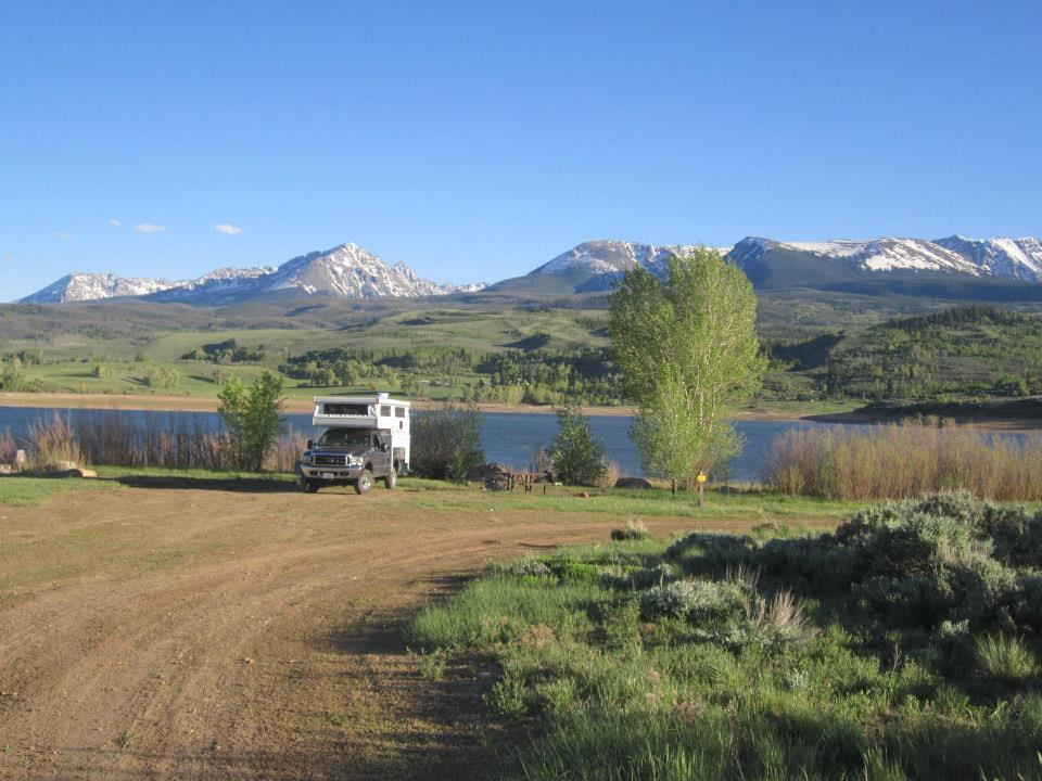 Living in a camper wasn't always easy, but waking up to these views made it always worth it.